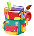 Back to schoolschool bag vector image