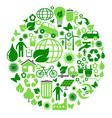 green eco circle vector image