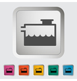 Low coolant indicator vector image