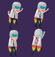 Man Worker Rocketteer Startup Fly vector image