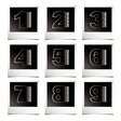 Photo numbers vector image