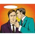 Pop art retro comic Two vector image
