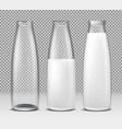 set of isolated icons glass vector image