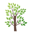 Stylized tree logo icon vector image vector image