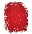 grunge snow vector image vector image