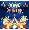 fun fair poster vector image