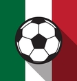 football icon with Mexico flag vector image