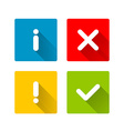 Notification icons vector image