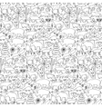 Hand drawn North America seamless pattern vector image
