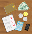 financial accounting and verification vector image