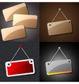 Set of Blank hanging sign for your text on an vector image