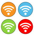 Wi Fi icon buttons set vector image