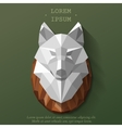 wolf poly head vector image