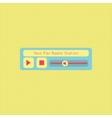 Abstract modern flat audio radio player interface vector image