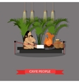 cave people exposition in vector image