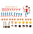 male character colorful constructor on white vector image
