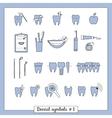 Set of dentistry symbols part 2 vector image