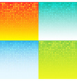 Set of Colorful Abstract Halftone Background vector image