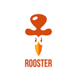 signs and symbols rooster vector image vector image
