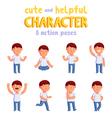 Boy mascot vector image