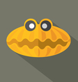 Flat Design Shell Icon vector image