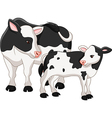Cute cow mother with baby calf vector image vector image
