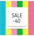 Sale poster with percent vector image