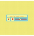 Abstract modern flat audio radio player interface vector image