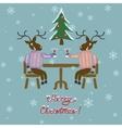 Christmas deer in sweater vector image