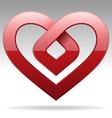 metal stripe heart sign vector image
