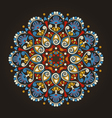 Radial geometric floral pattern vector image