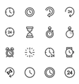 set of utline icons indicating the time vector image