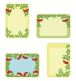 Set tags with rowanberry vector image