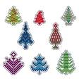 Knitted Christmas Patch vector image