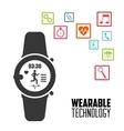 smart watch running app wearable technology vector image