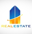 Skyscraper building real estate logo icon design vector image