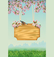 spring poster template vector image