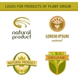 Set logo for farmers agricultural products Natural vector image