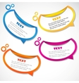 colorful speech stickers vector image