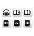 Audiobook buttons set vector image