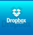 dropbox logo background image vector image