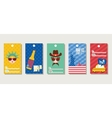 gift tags themed 4th of July vector image