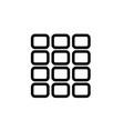 Grid square icon vector image