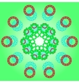 Pattern with abstract ornament vector image