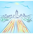 Road To City vector image