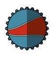 soda metal cap isolated icon vector image