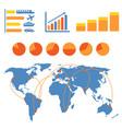 transportation infographics vector image