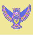 owl bird template vector image vector image