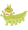 Green Caterpillar vector image