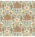 French floral pattern in modern style vector image vector image